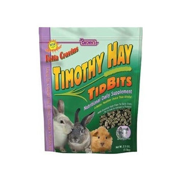 F.M. Brown's Falfa Cravins Treats, 2-1/2-Pound, Timothy Hay Pelleted Tidbits