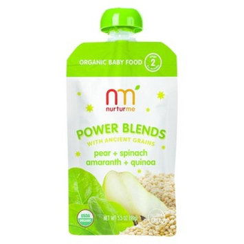 NurturMe Stage 2 Power Blends Pear, Spinach, Amaranth and Quinoa Organic Baby Food - 3.5 Ounce Pouch