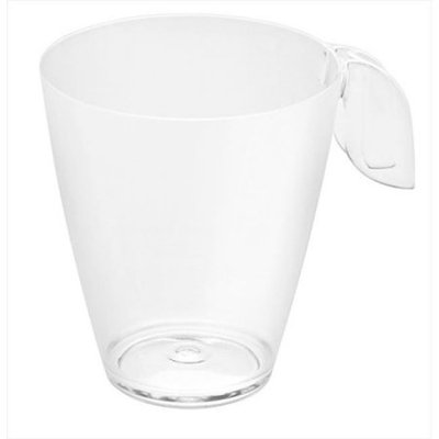 Rosseto Leaf Coffee Cup, 8 oz. Clear Recyclable Plastic