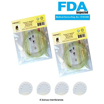 Maymom 4x Tubing 4x Membranes for Medela Pump in Style Advanced Breastpump Released After Jul 2006 Plus 4 Membranes in Retail Pack. Replaces Medela Tubing #8007212, 8007156 & 87212 and Pump Parts.