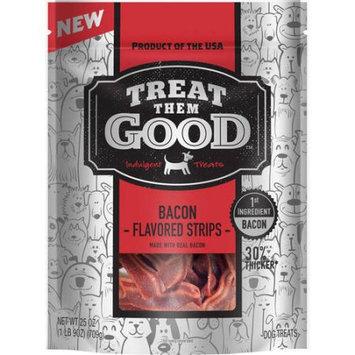 Treat Them Good Bacon Flavor Strip Dog Treats, 25 oz