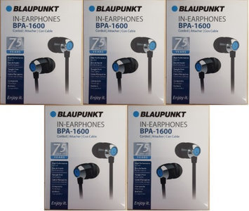Blaupunkt BPA-1600 Light Weight In-Earphones with In-Line Mic and Tangle Free Flat Cable