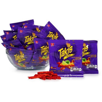 Takis 1 oz Fuego Hot Chili Pepper & Lime Flavored Corn Snacks - 30 PACK [30]
