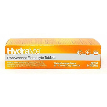 Hydralyte Electrolyte Orange Effervescent Tablets 20 Count (3 Pack)
