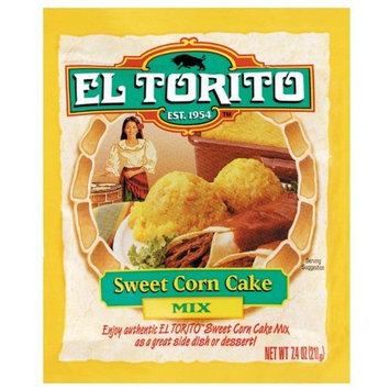 El Torito Sweet Corn Cake Mix, 7.4-Ounce Packages (Pack of 12)