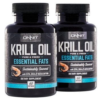 Onnit Krill Oil - 1000mg Extra Strength Antarctic Krill Oil with Omega 3 DHA & EPA, Astaxanthin & Essential Phospholipids (120ct)