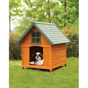 Benzara Wooden Pet House, Honey Oak & Green