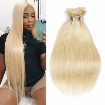 VIOLET Brazilian Straight Hair 613 Bundles Mixed Length 20 22 24 Inch Total 300g 100% Real Remy Blonde Hair 3 Bundles Straight Weave Weft Extensions