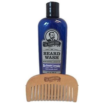 Colonel Conk Natural Beard Wash + Beard Comb (Rio Grande Lavender)