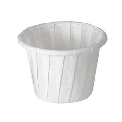 Solo 075-2050 CPC 1 oz Treated Paper Pleated Souffle Portion Cup White - Case of 5000