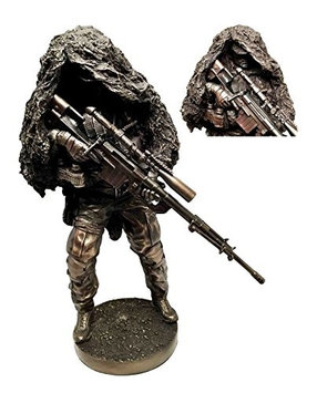 Gifts & Decor Modern Military Warfare Camouflage Marksman Sniper Specialist Unit Figurine Behind Enemy Lines