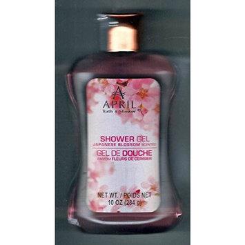 April Bath and Shower Japanese Blossom Scented Shower Gel 10 Fl Oz