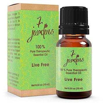 7 Jardins 100% Pure Essential Oil Blend Peppermint Chamomile Wintergreen, Live