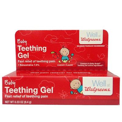 Walgreens Baby Teething Gel Cherry 0.33 oz.(pack of 2)