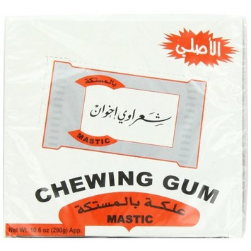 Shaarawi Mastic Chewing Gum, 100-Count Pouches (Pack of 4)