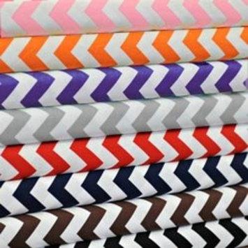 Chevron Moses Basket Sheet - Color: Pink, Size: 14 X 30