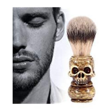 Mens Grooming Tool Makeup Skull Head Barber Salon Beard Shaving Brush