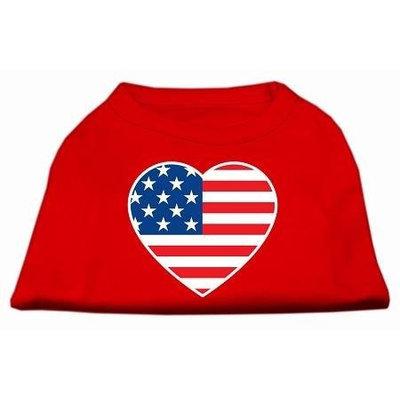 Ahi American Flag Heart Screen Print Shirt Red XXL (18)