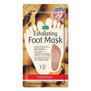 Purederm Exfoliating Foot Mask - Peels Away Calluses and Dead Skin in 2 Weeks! (3 Pack