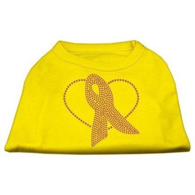 Ahi Pink Ribbon Rhinestone Shirts Yellow Med (12)