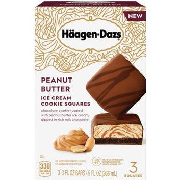 HAAGEN-DAZS Peanut Butter Ice Cream Cookie Squares 3 ct Box