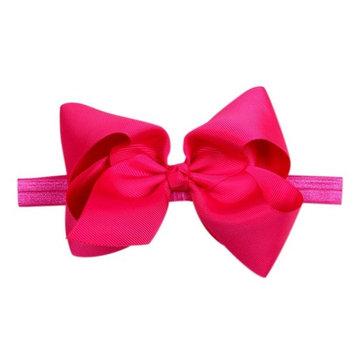 Ecurson Headwear Big Bows Flower Headband Hair Elastic Bow Hairband Accessories