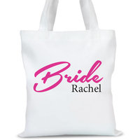 Personalized Bridal Tote Bag, Sizes 11