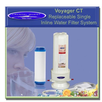 Crystal Quest CQE-IN-00103 Voyager CT Replaceable Single Inline Water Filter system-Plus