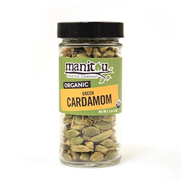 Organic Green Cardamom, 1.1 Oz Glass Jar