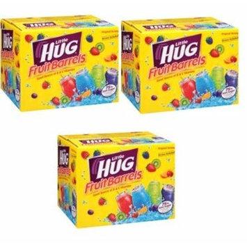 Little Hug Fruit Drink Barrels, Original Variety Pack, 8 Fl Oz, 40 Count (Pack of 3)