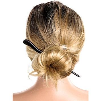 Unicra Hair Sticks Natural Ebony Black Sandalwood Handmade Carved Hair Clip Shawl Hair Pins (Black) (Shape of Snake)