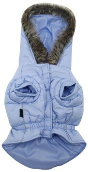 Dogit Large Dog Puffy Coat w/ Faux Fur Hood - Blue - XXLarge