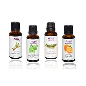 3-Pack Variety of NOW Essential Oils: Energizing - Rosemary, Cinnamon Cassia, Peppermint [Energizing]