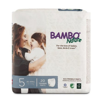 Bambo Nature Premium Training Pants, Size 5, 20 Ct