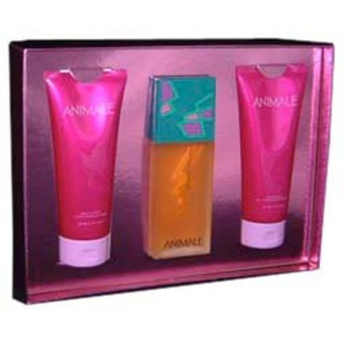 Animale By Parlux Fragrances For Women. Gift Set ( Eau De Parfum Spray 3.4 Oz + Body Lotion 6.7 Oz + Shower Gel 6.7 Oz).