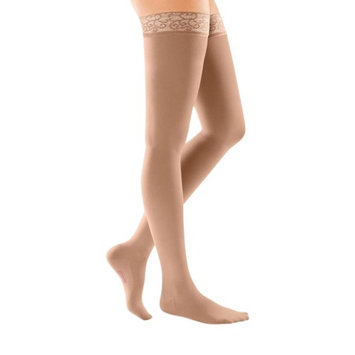 Mediven 48701 Comfort 3040 mmHg Closed Toe Thigh Highs with Lace Silicone Top Band Size 1 Standard#44; Color Natural 0
