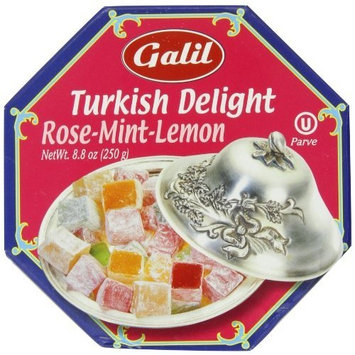 Galil Turkish Delight Octagon, Assorted, 8.8-Ounce Box (Pack of 1)