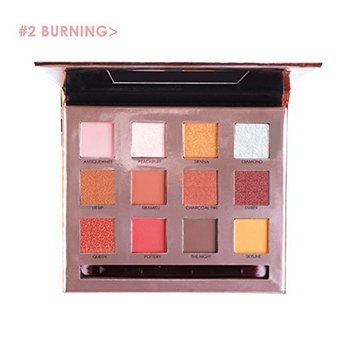 Awhao 12 Colors Shimmer Eyeshadow Palette Glitter Matte Sunset Eye Makeup Waterproof Non-smudge Eyeshadow Palette,FOCALLURE