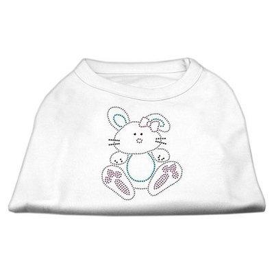 Ahi Bunny Rhinestone Dog Shirt White XS (8)
