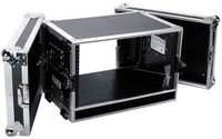 Deejay Led Fly Drive Case For 6U Space Standard Low Profile Dj 19-In Amplifier Or Effects Units Or Similarly Sized Equip