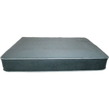 Harmony Kids Spoiled Rotten Classic Charcoal and Gray Large Pet Mattress