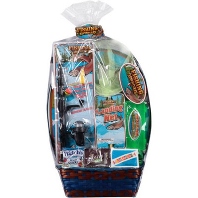 Wondertreats Fishing Adventures Easter Basket with Toys and Assorted Candies