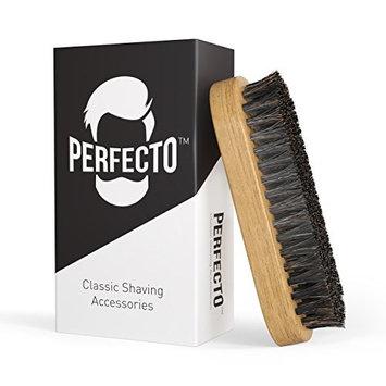Perfecto Mens Beard Brush - Extra Firm - Premium 100% Pure Boar Bristle - Gift Box