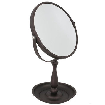 Home Basics 5.3 in. x 11.75 in. Cosmetic Makeup Mirror with Integrated Tray