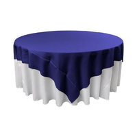 LA Linen TCpop90x90-RoyalP50 Polyester Poplin Square Tablecloth Royal - 90 x 90 in.