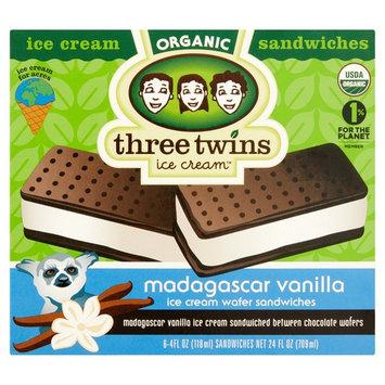 Three Twins Organic Ice Cream Bars Madagascar Vanilla, 6 - 4 oz bars