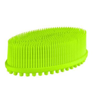 Pretty See Silicone Bath Body Brush Shower Massage Scrubber for Cellulite Treatment Skin Exfoliation, Green