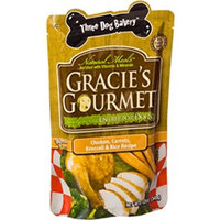 Three Dog Bakery Gracie's Gourmet Entr;e for Dogs Chicken, Carrots, Broccoli & Rice Recipe 12oz.