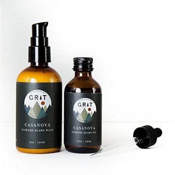 Surpreme Beard Oil 2 FL Oz and 4 FL Oz Beard Wash Set (Vgabond)