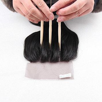 Lanyi Hair Three Part Human Hair Lace Closure Brazilian Hair Body Wave 130% Density Natural Black Color 18